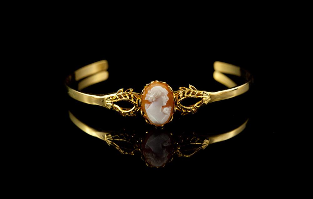 Камея натуральная браслет