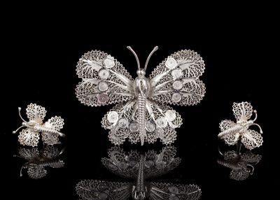 Серебряные украшения антикварные