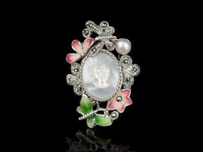 Камея перстень серебро