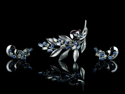 Серебряная брошь и клипсы от Carl-Art