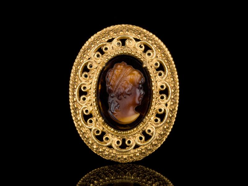 Florenza брошь камея венецианское стекло