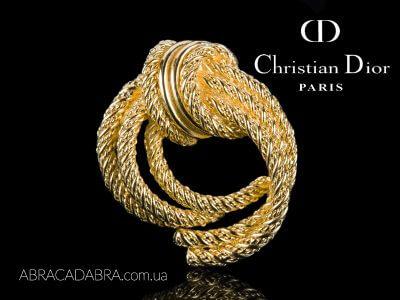 Dior Диор брошь узел винтажная оригинал