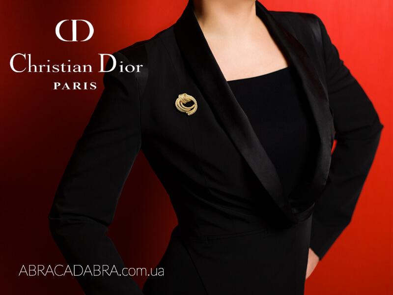 Винтажные украшения Christian Dior броши оригинал