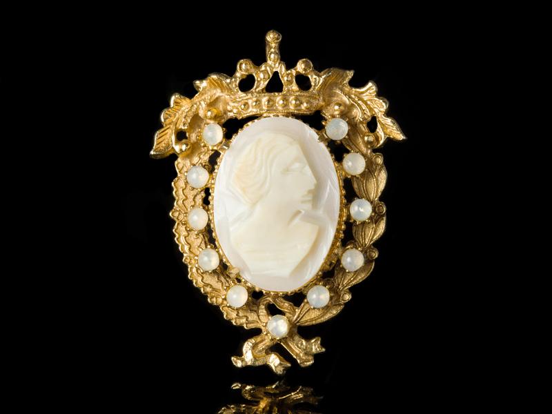 Камея кулон подвеска Geno из раковины Florenza