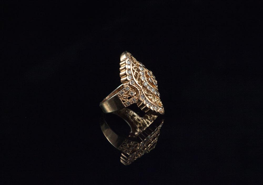 Филигранный перстень серебряный барокко