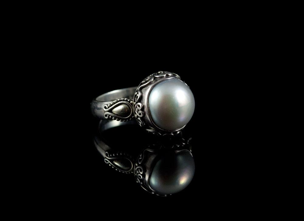 Старинный восточный серебряный перстень