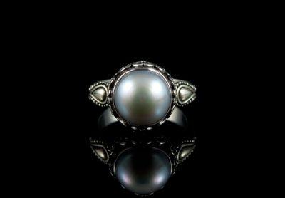 Перстень винтажный с большой жемчужиной