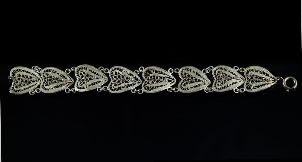 Старинный серебряный браслет