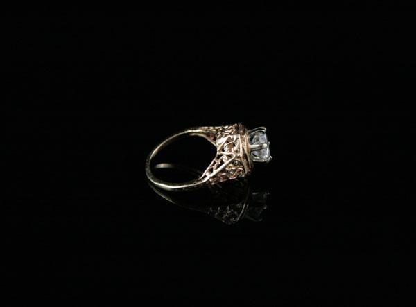 Викторианское золотое кольцо-перстень корона