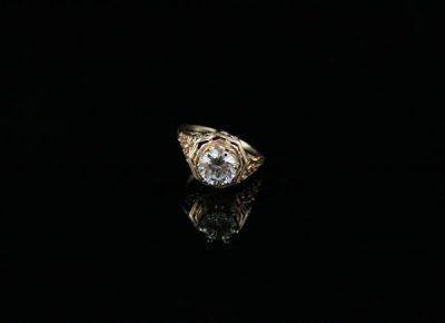Винтажное золотое кольцо на мизинец