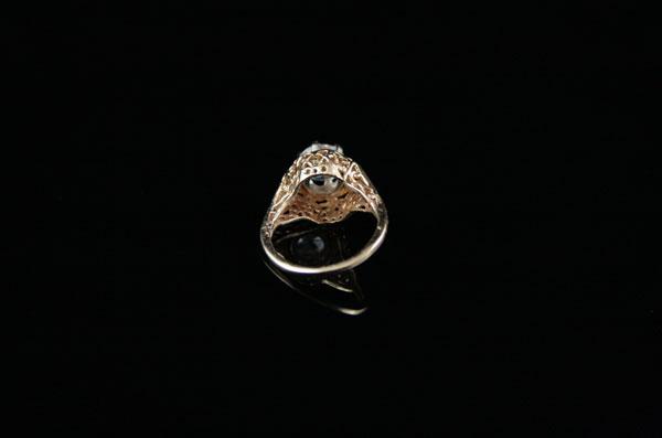 Винтажный золотой перстень на мизинец