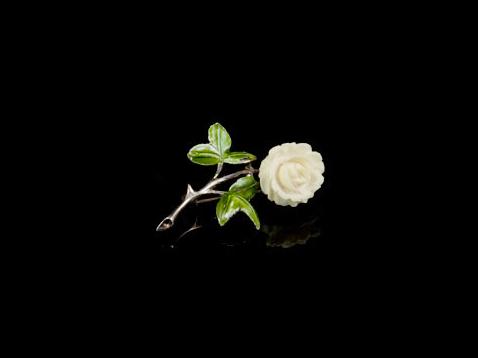 Christian Dior винтажная брошь с розой