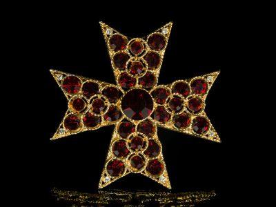 Мальтийские кресты броши винтажные