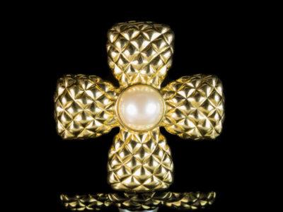 Chanel Шанель винтажная брошь Мальтийский крест