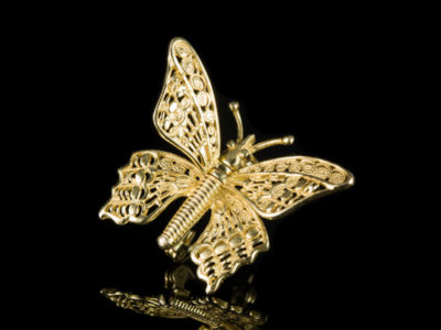 Брошь бабочка подвижные крылья винтаж
