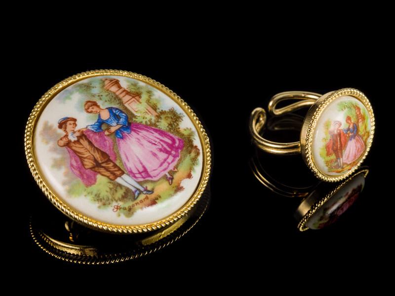Старинные украшения Франции перстень кольцо