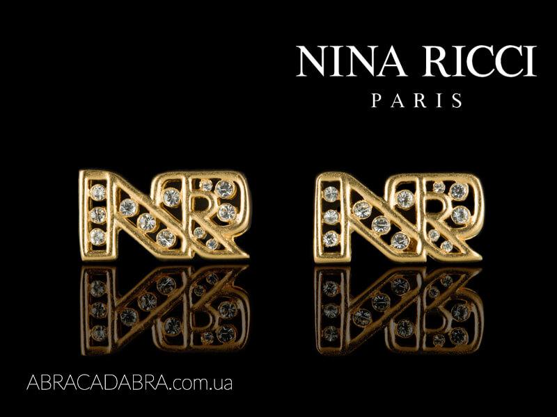 Nina Ricci украшения бижутерия Оригинал серьги