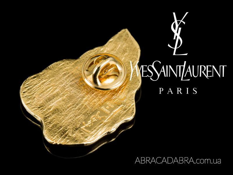 Yves Saint Laurent Ив Сен Лоран броши винтажные YSL