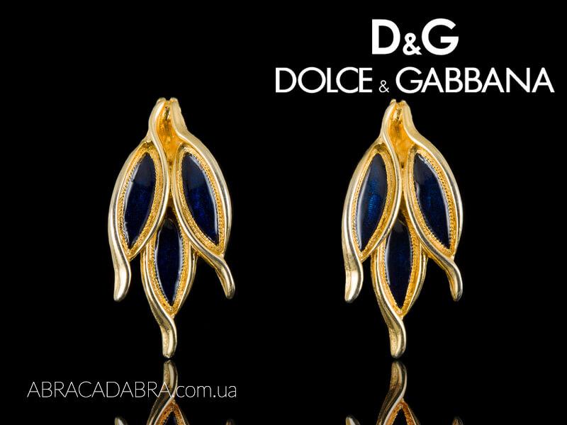 Dolce Gabbana серьги Дольче Габбана клипсы
