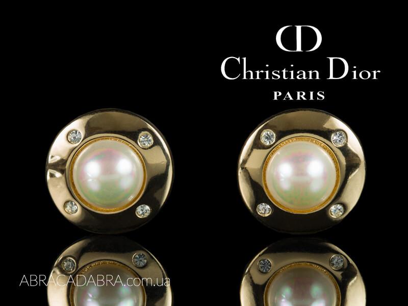 Серьги Диор Клипсы Dior Оригинал украшения