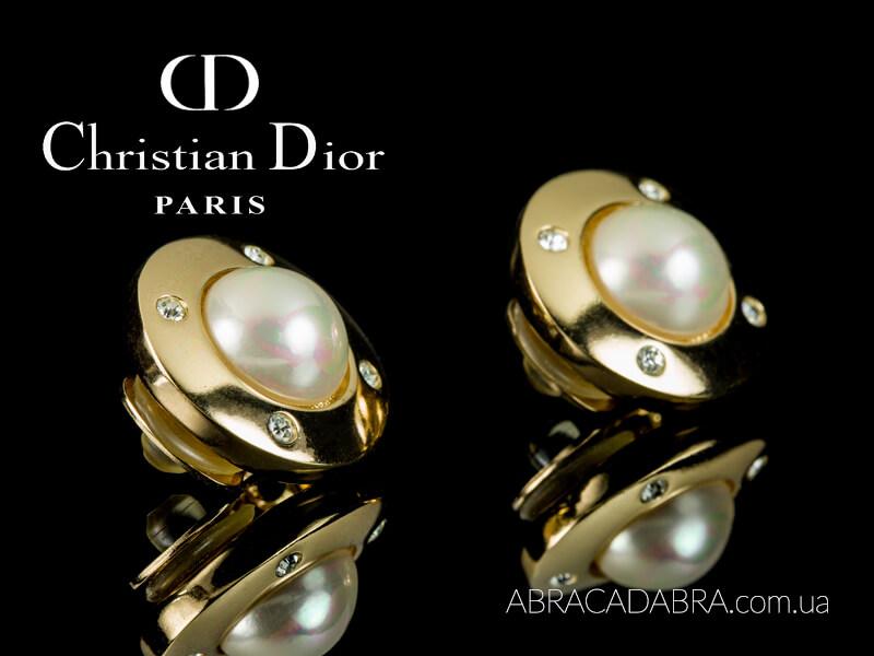 Dior серьги Кристиан Диор клипсы Оригинал