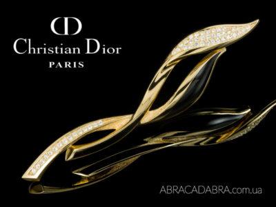Dior брошь Диор оригинальная винтажная Кристиан