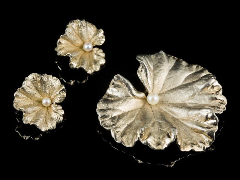 Napier комплект гарнитур винтажный серебро жемчуг
