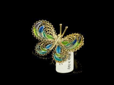 Брошь филигранная серебряная бабочка