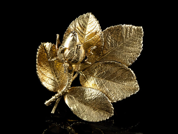 Flora Danica украшения броши винтажные серебряные
