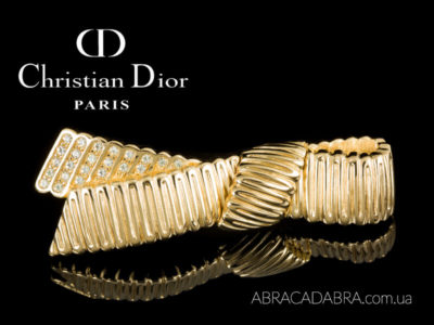 Кристиан Диор Christian Dior брошь оригинал винтажная