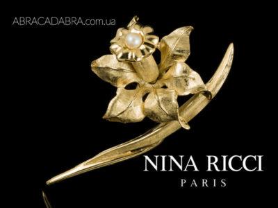 Нина Риччи украшения Nina Ricci бижутерия брошь
