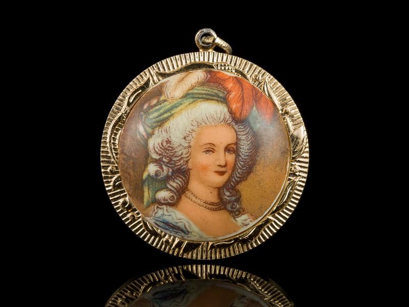 Винтажный старинный антикварный кулон Маркиза де Помпадур