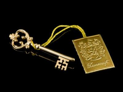 Брошь Золотой ключик Danecraft винтажная серебро