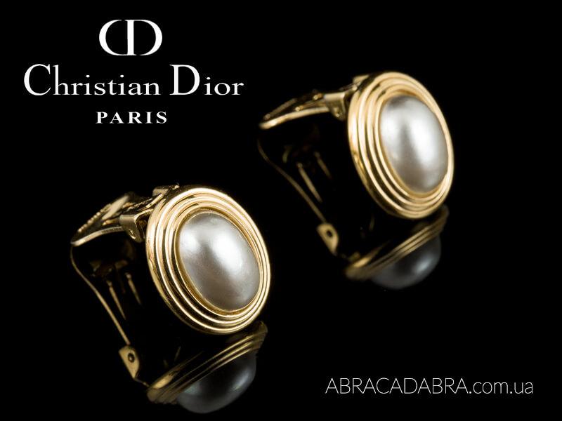 Клипсы Dior Диор оригинал винтаж купить