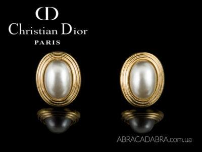 Серьги Кристиан Диор Christian Dior оригинал винтажные
