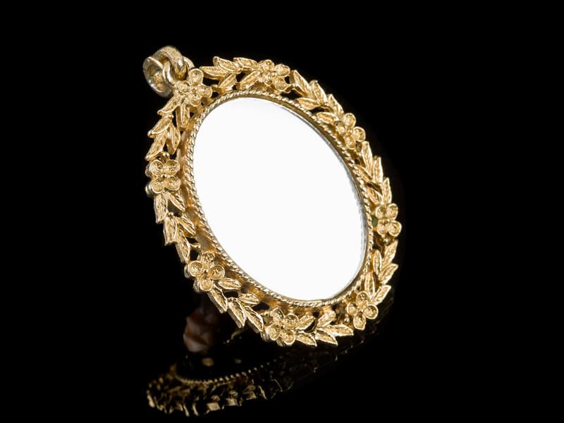 Кулон зеркальце зеркало винтаж AVON