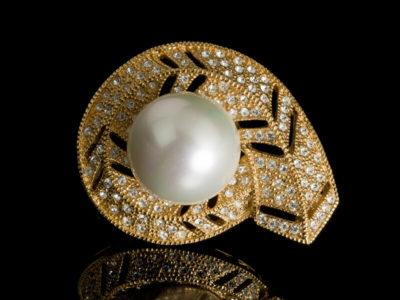 Майорика жемчуг ювелирные изделия брошь