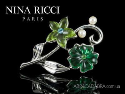 Nina Ricci украшения Нина Риччи бижутерия брошь