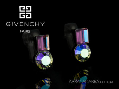 Givenchy украшения Живанши серьги оригинал Swarovski Сваровски