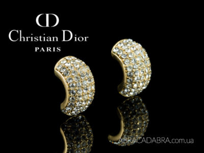 Christian Dior серьги оригинал купить с кристаллами украшения