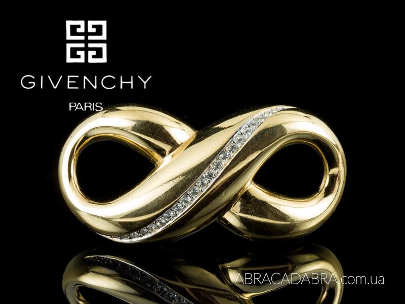 Брошь Живанши винтажная Givenchy бижутерия