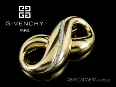 Givenchy брошь Живанши украшения винтажные