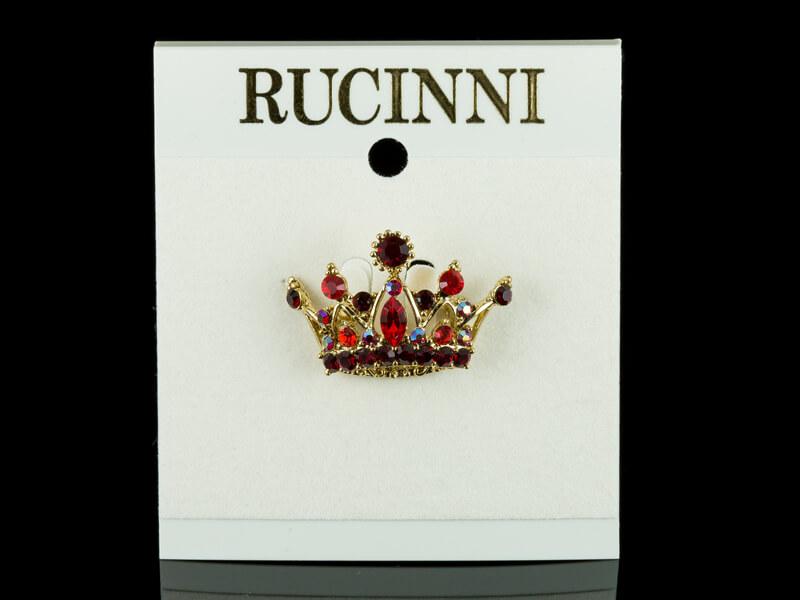 Брошь в форме короны винтаж