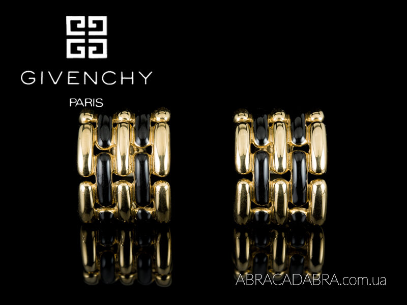 Givenchy клипсы серьги бижутерия украшения оригинал